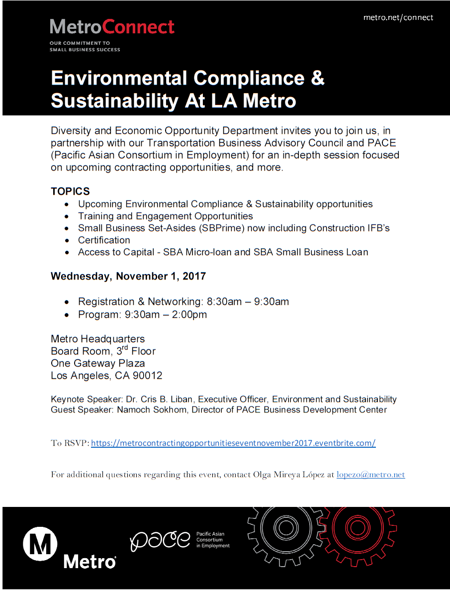 metro pace contract certification financing event